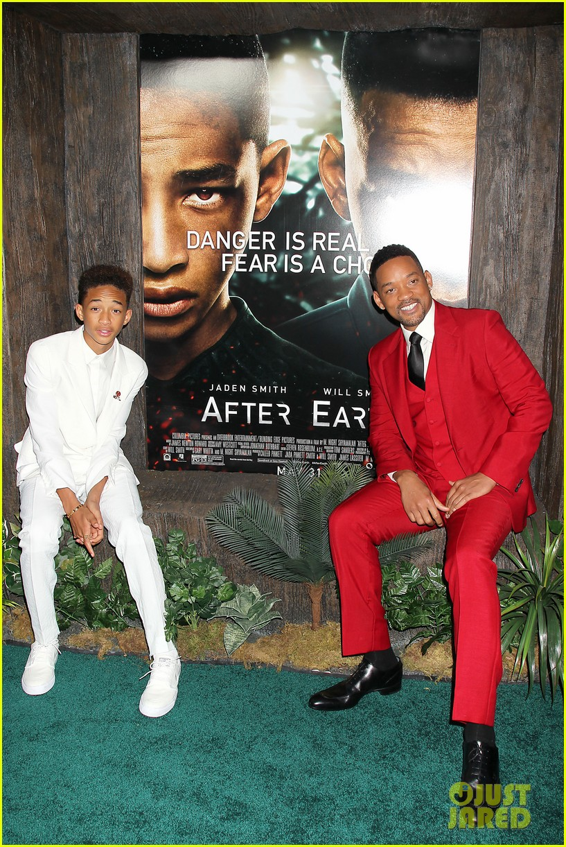 jada will smith after earth premiere with willow jada trey 302880291