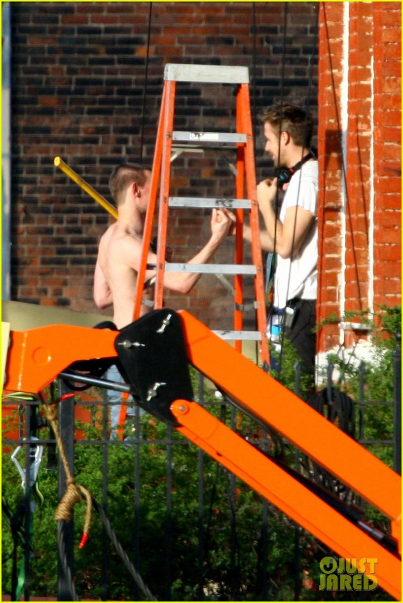 matt smith shirtless shaved head for ryan gosling movie 052868239