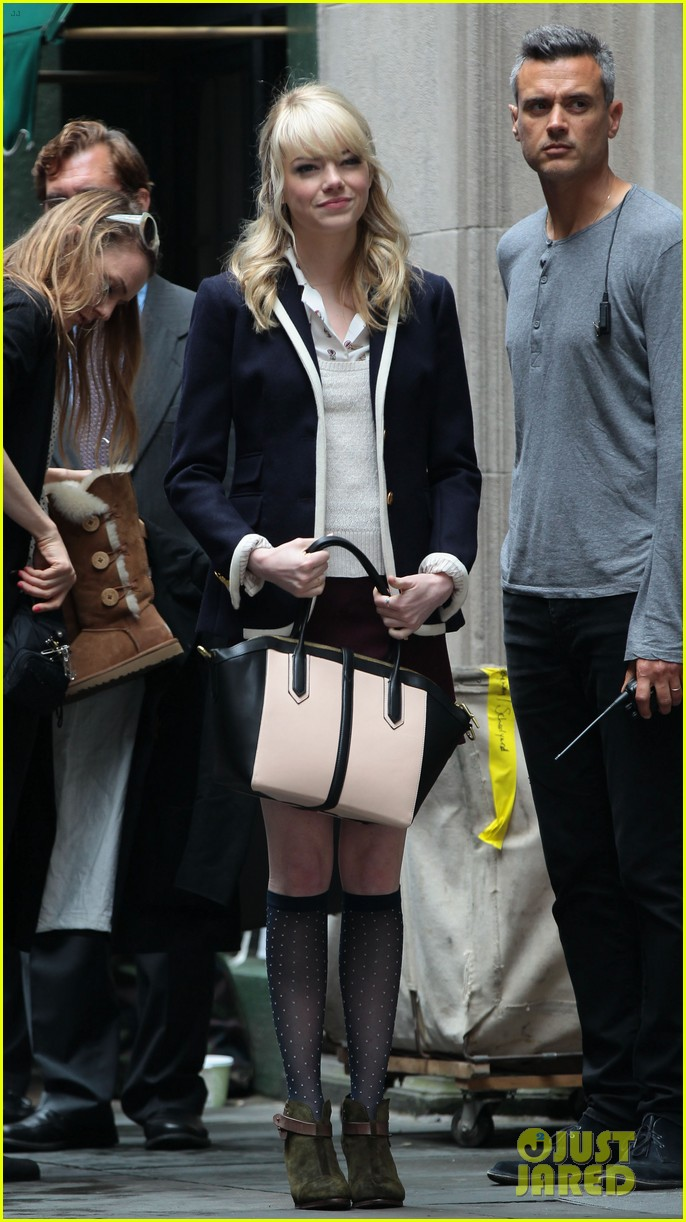 emma stone andrew garfield day 82 on spider man 2 set 012880336