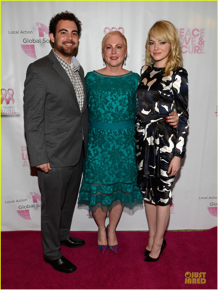 emma stone andrew garfield triple negative breast cancer foundation benefit 072875888
