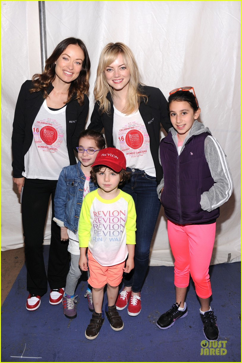 emma stone olivia wilde eif revlon run walk for women hosts 032863431