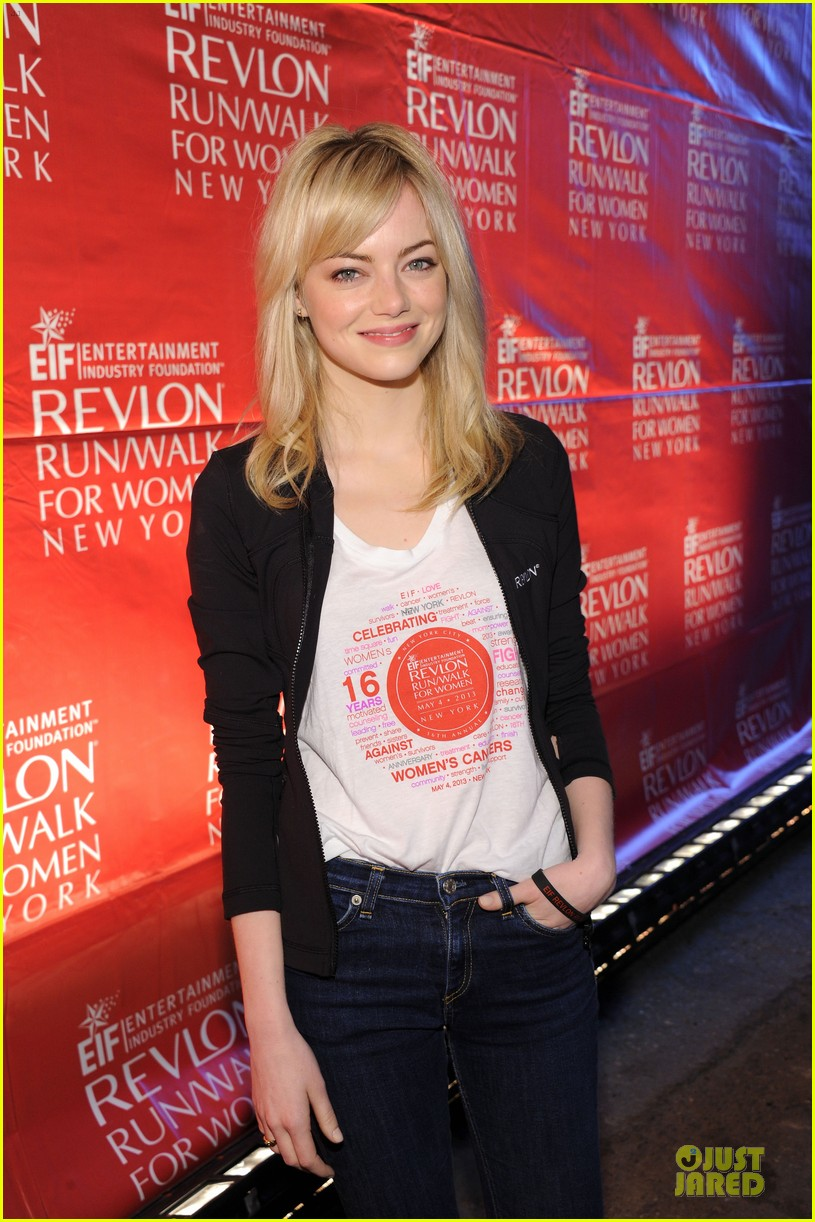 emma stone olivia wilde eif revlon run walk for women hosts 082863436