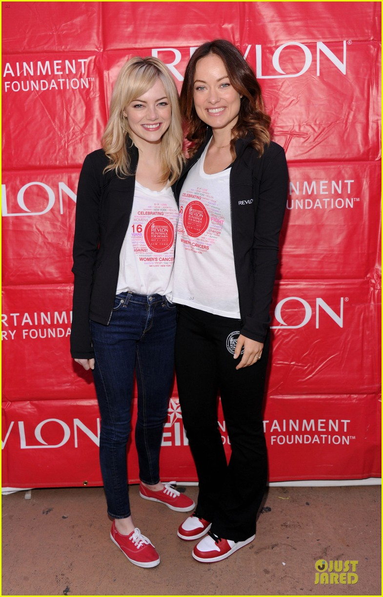 emma stone olivia wilde eif revlon run walk for women hosts 112863439