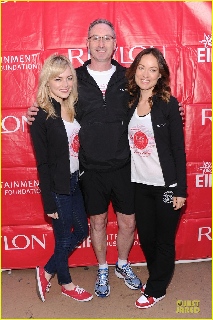 emma stone olivia wilde eif revlon run walk for women hosts 21