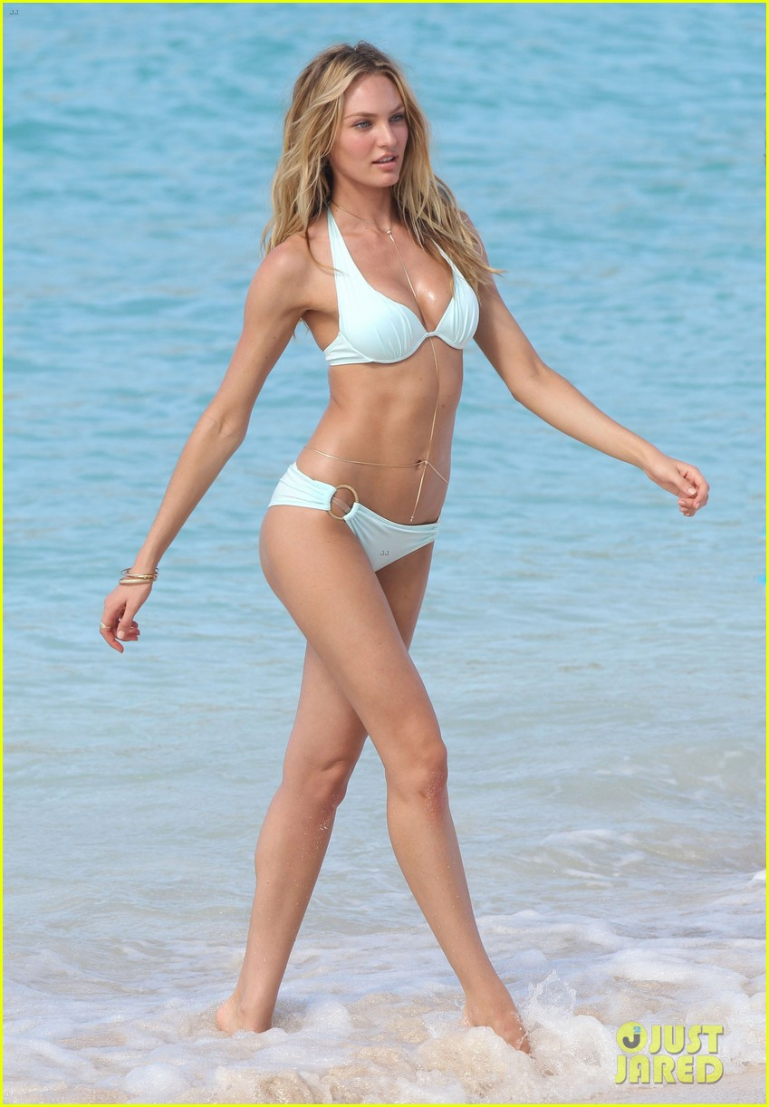 candice swanepoel in bikini photo shoot on the beach 01