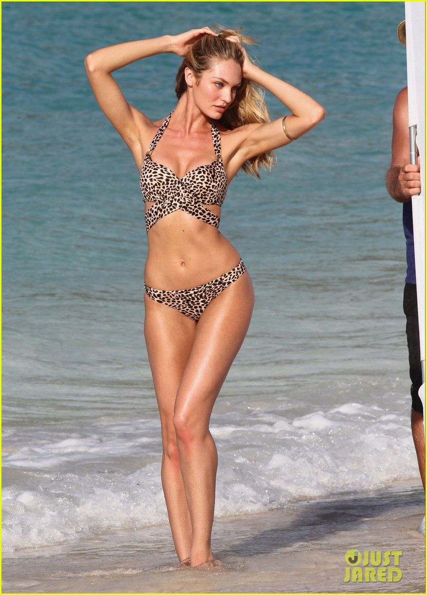 candice swanepoel in bikini photo shoot on the beach 03