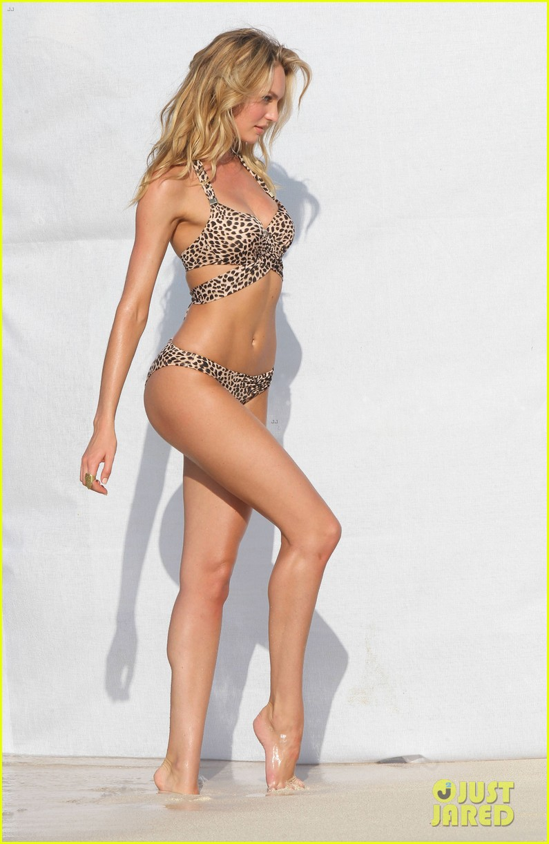 candice swanepoel in bikini photo shoot on the beach 13