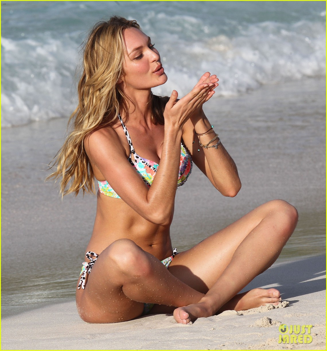 candice swanepoel in bikini photo shoot on the beach 21