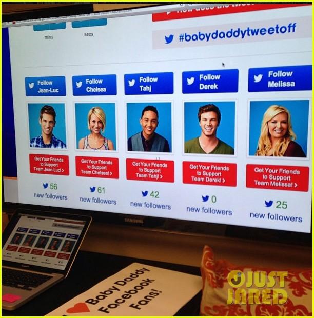 derek theler wins baby daddy tweet off goes shirtless 132880433