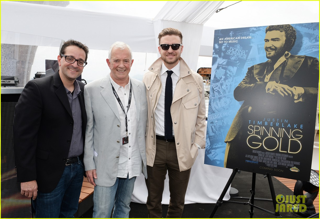 justin timberlake torch cannes spinning gold celebration 022870907