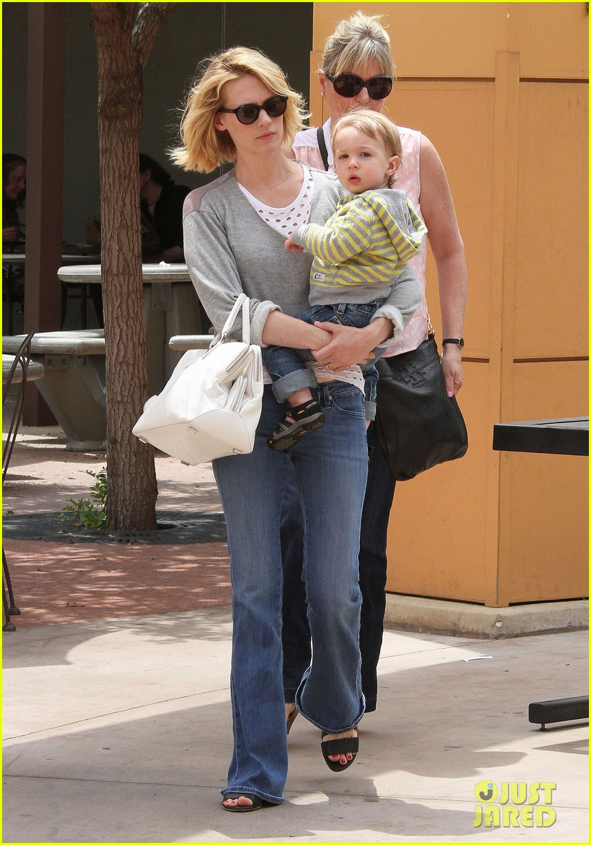 baby xander grabs mom january jones sunglasses 102867372