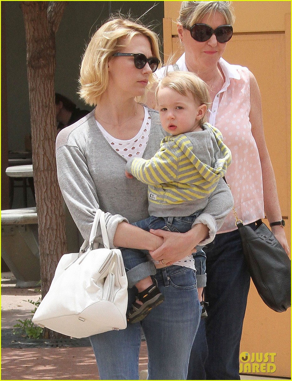 baby xander grabs mom january jones sunglasses 112867373