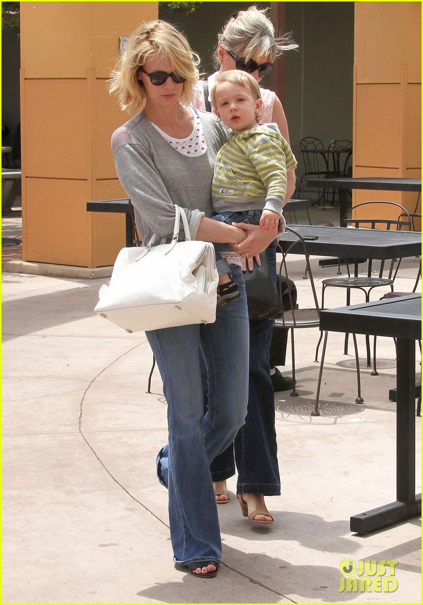 baby xander grabs mom january jones sunglasses 132867375