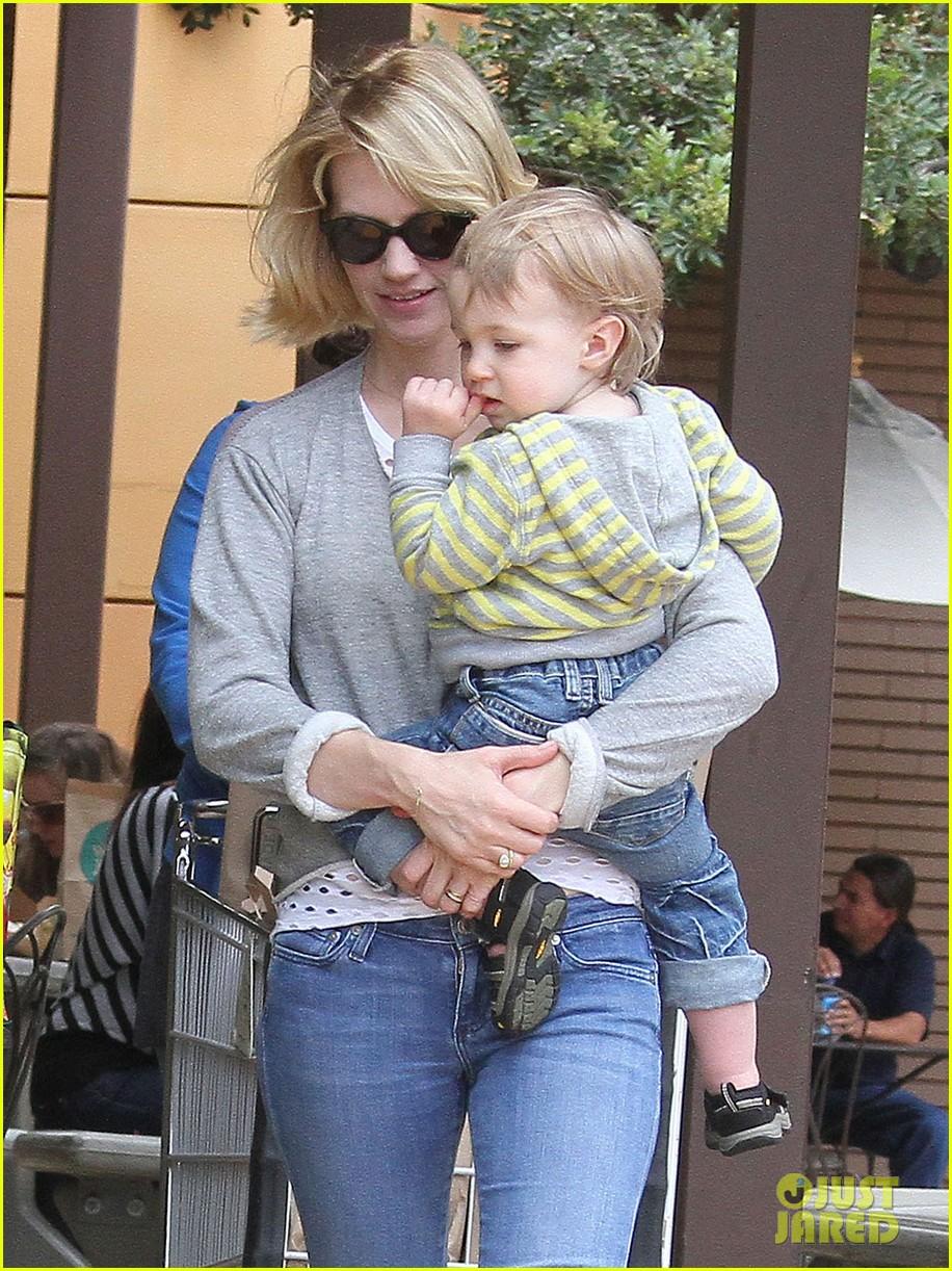 baby xander grabs mom january jones sunglasses 192867381