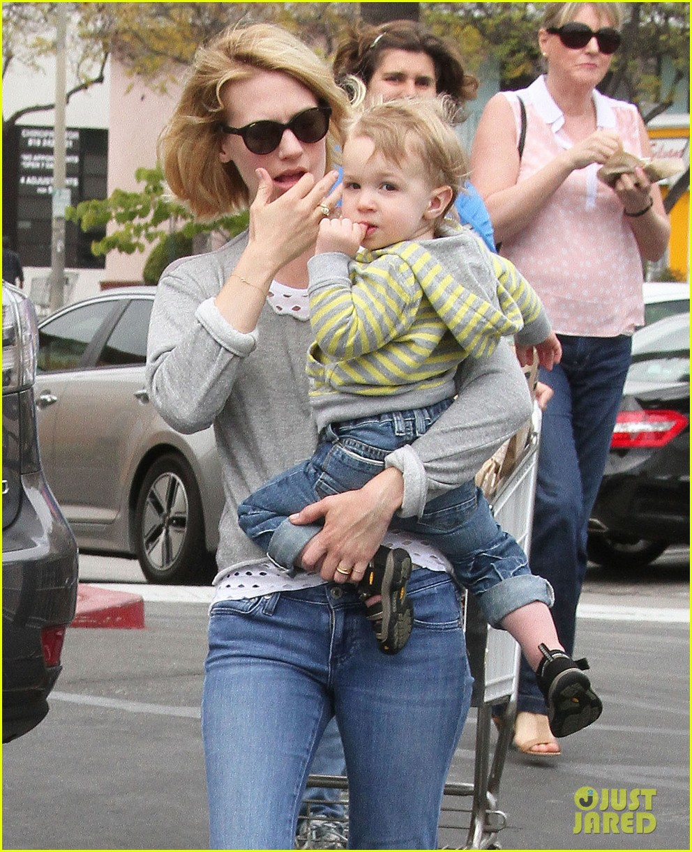 baby xander grabs mom january jones sunglasses 212867383