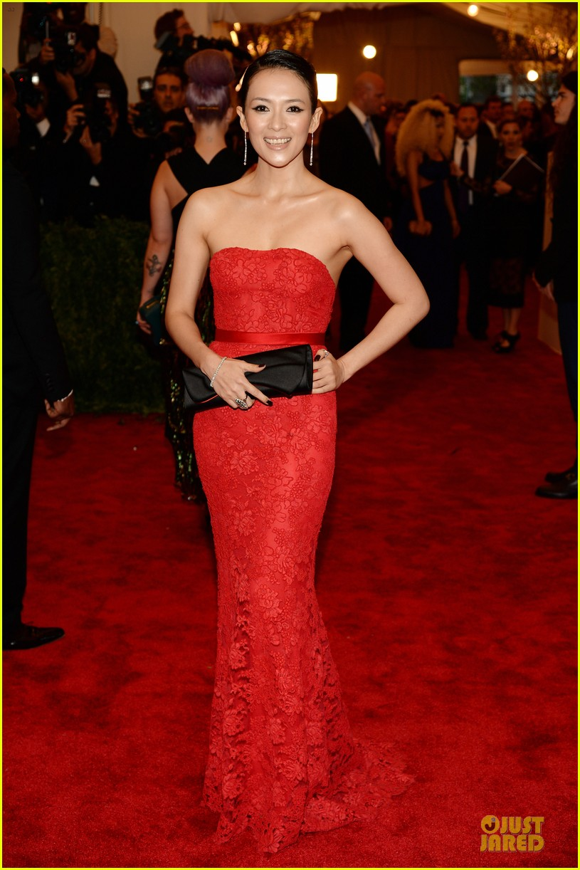 zhang ziyi maggie q met ball 2013 red carpet 012865577