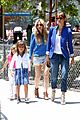 jessica alba cash warren honors kindergarten graduation lunch 14