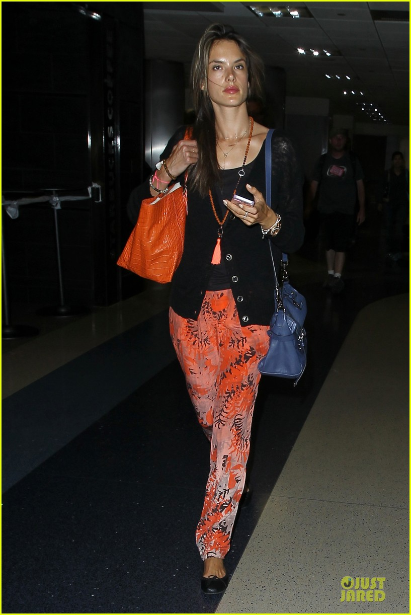 alessandra ambrosio lax arrival after secret project in nyc 102900553
