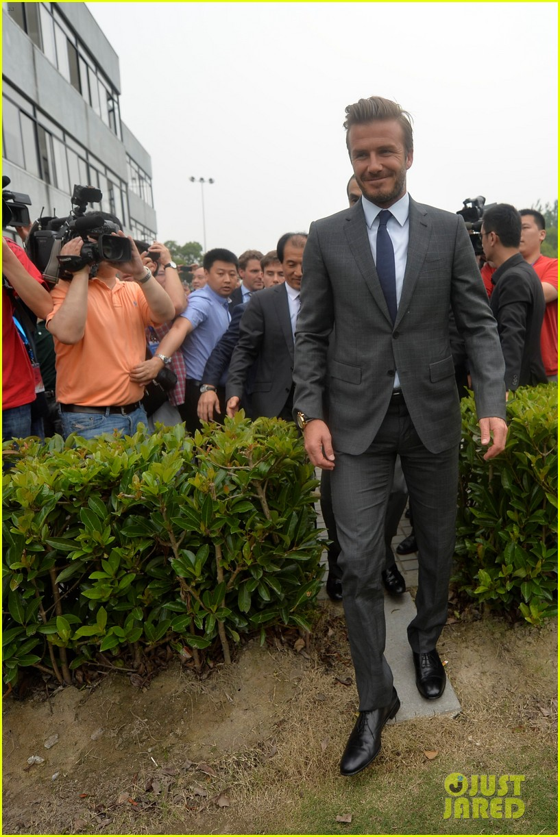 david beckham third day of china visit 012894401