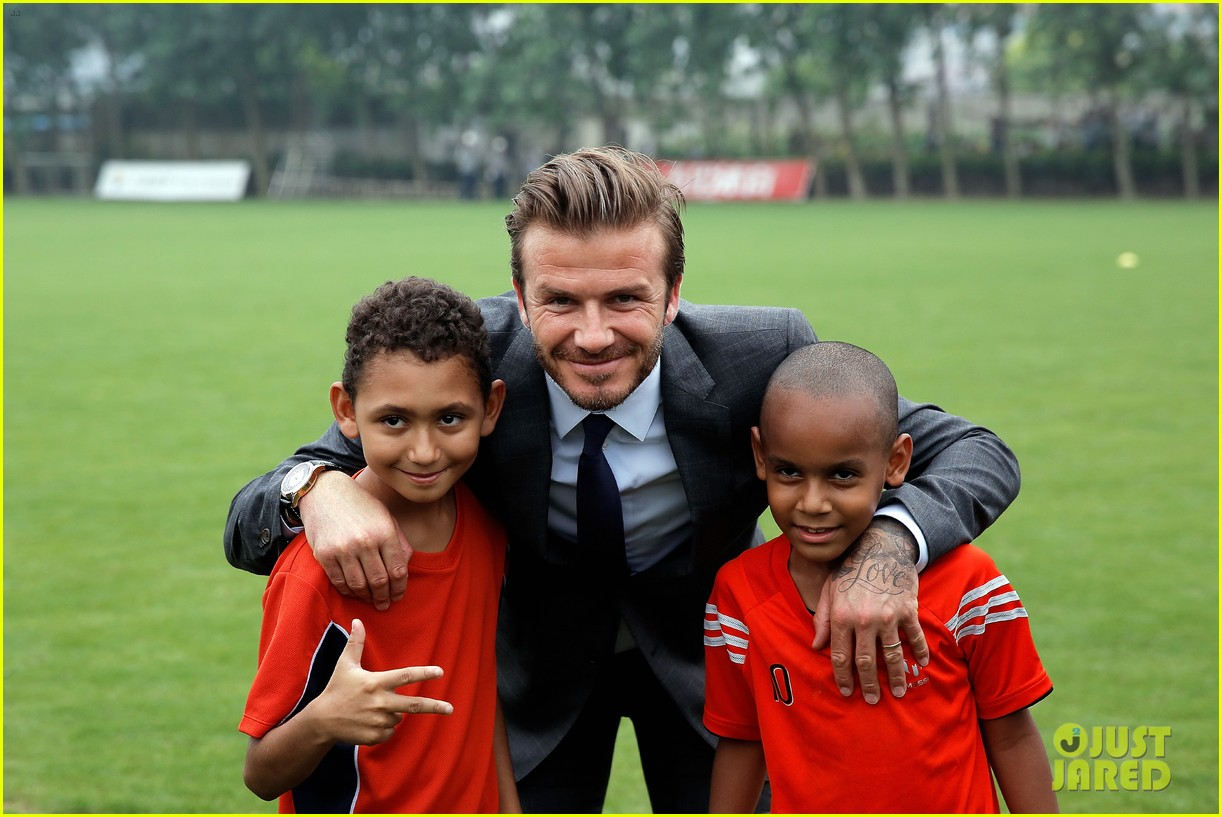david beckham third day of china visit 032894403