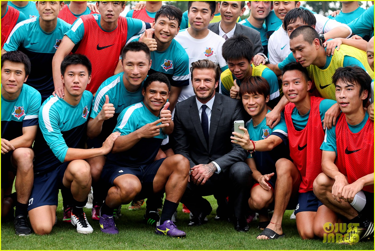 david beckham third day of china visit 082894408