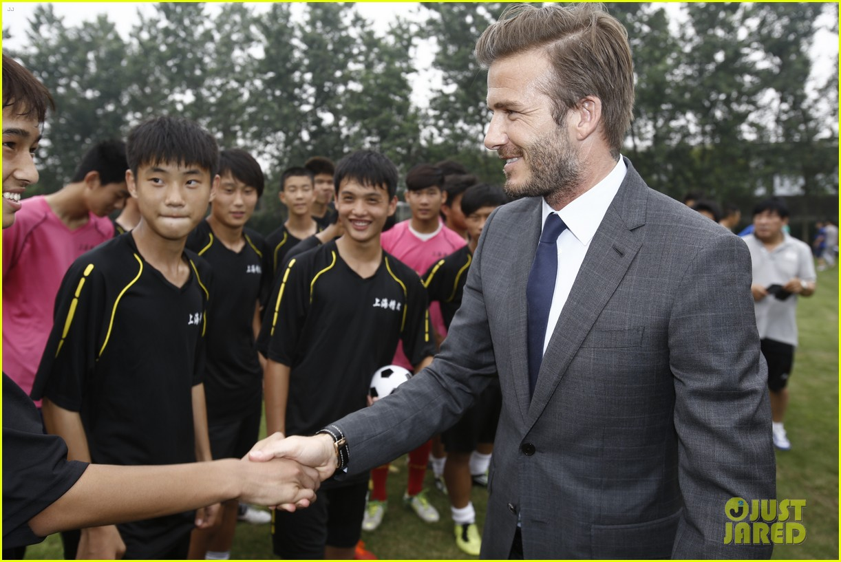 david beckham third day of china visit 092894409