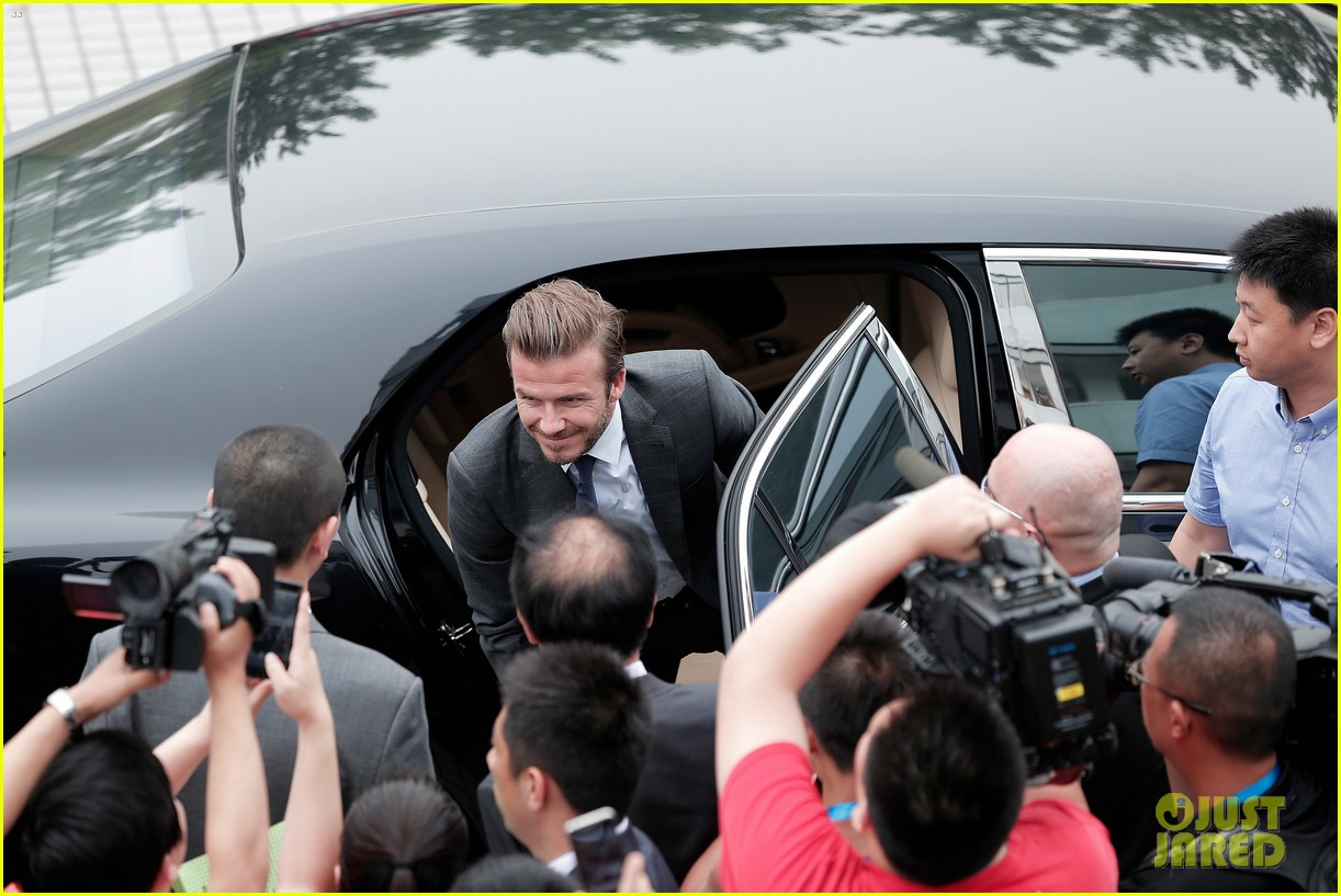 david beckham third day of china visit 142894414