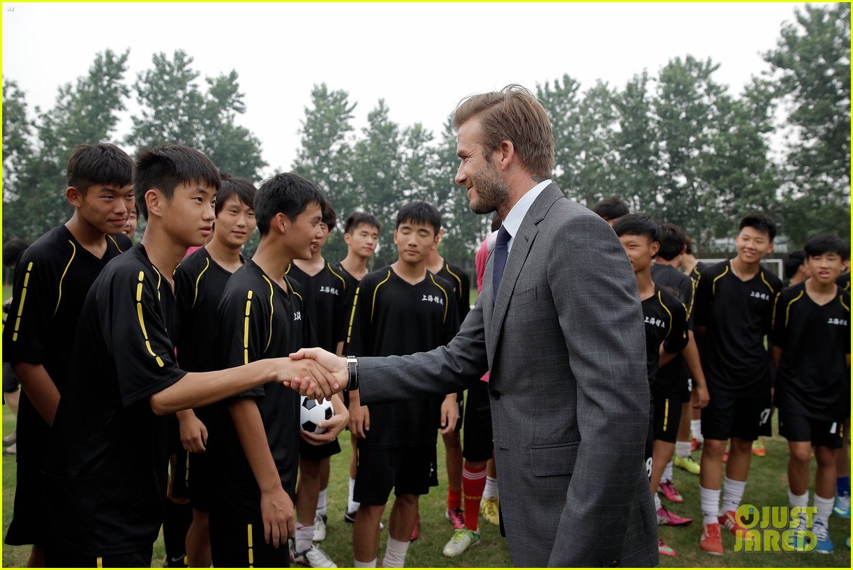 david beckham third day of china visit 192894419