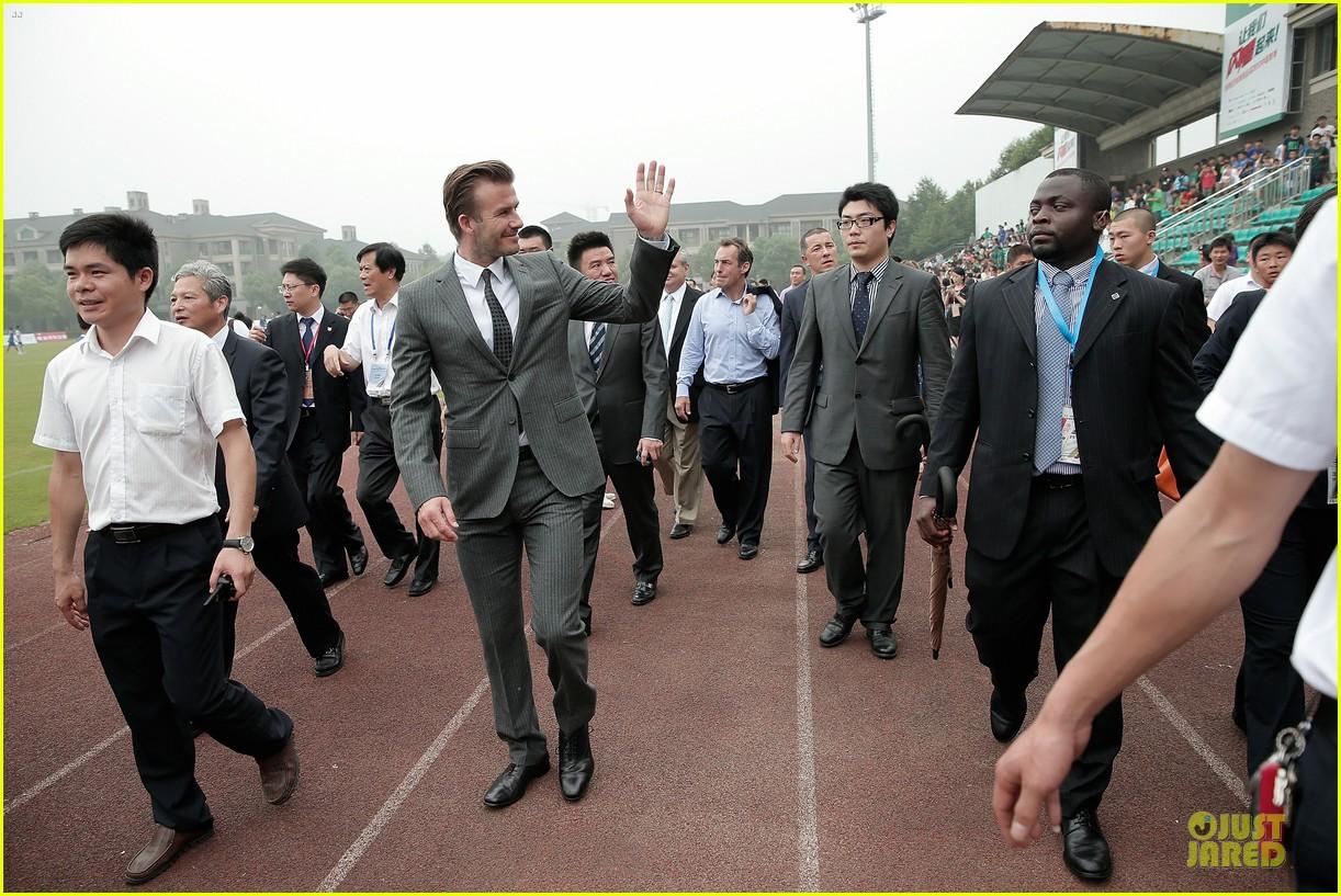 david beckham visits hangzhou greentown club victoria shops 012896314