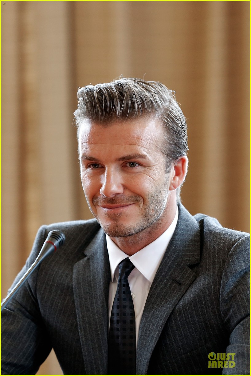 david beckham visits hangzhou greentown club victoria shops 132896326