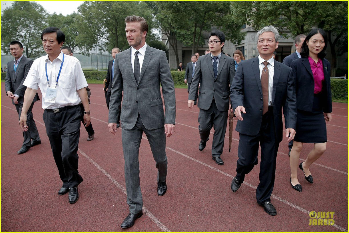 david beckham visits hangzhou greentown club victoria shops 192896332