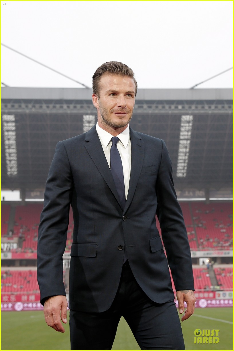 david beckham visits hangzhou greentown club victoria shops 262896339