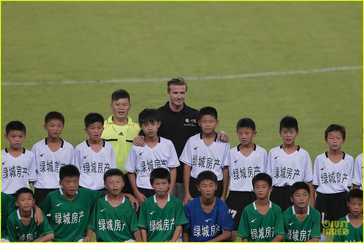 david beckham visits hangzhou greentown club victoria shops 272896340