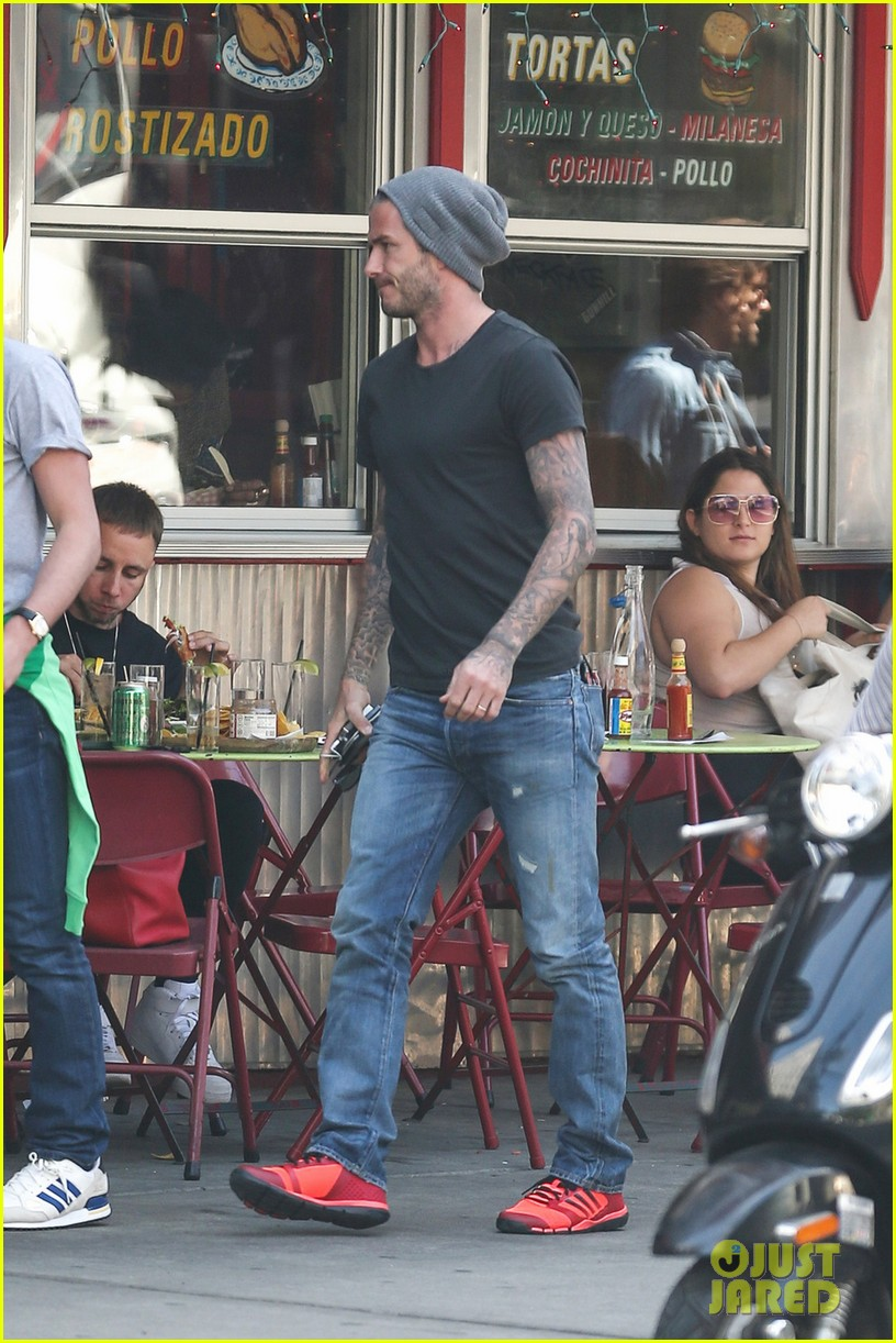 newly retired david beckham has lunch dinner in nyc 032885921