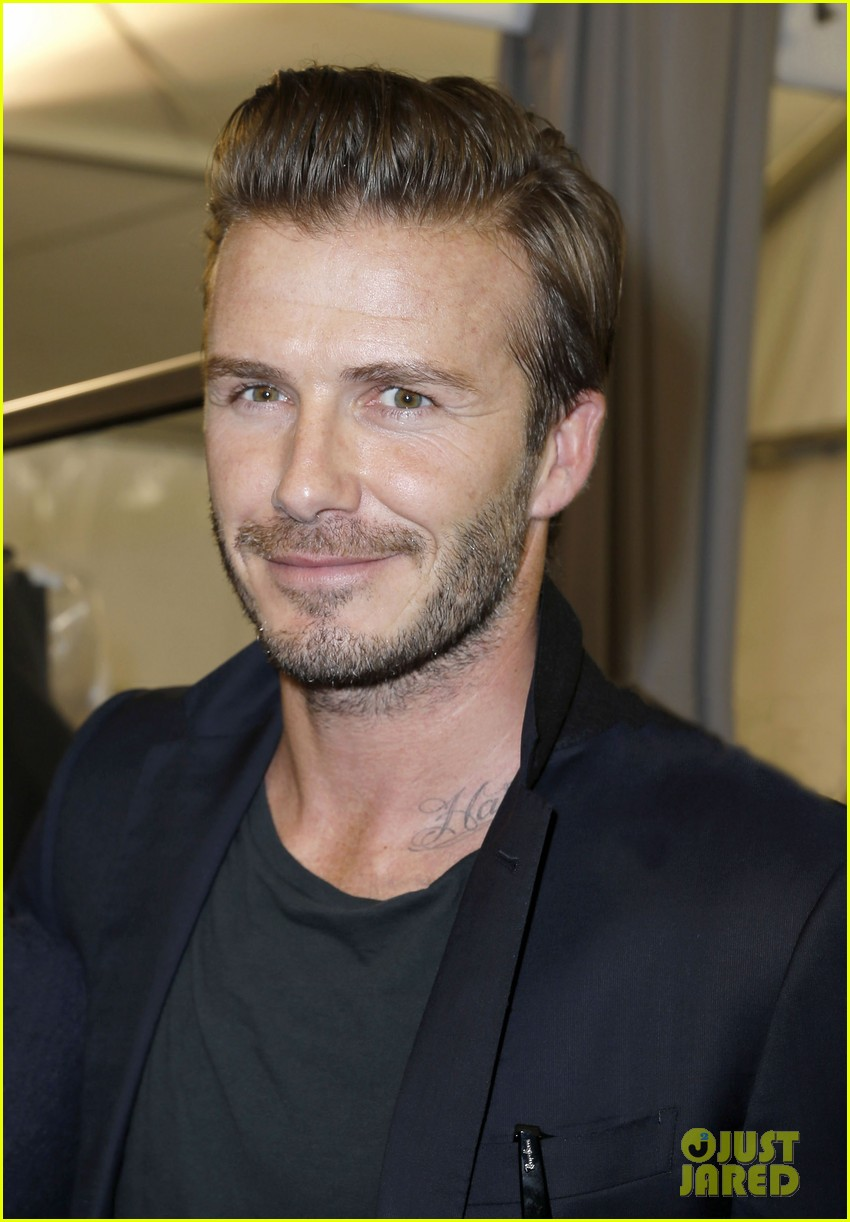 david beckham louis vuitton fashion show with marc jacobs 04