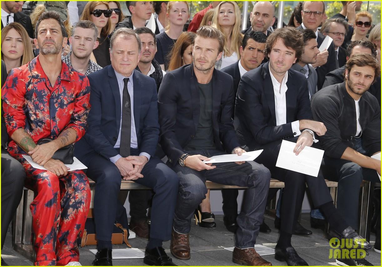 david beckham louis vuitton fashion show with marc jacobs 072899504