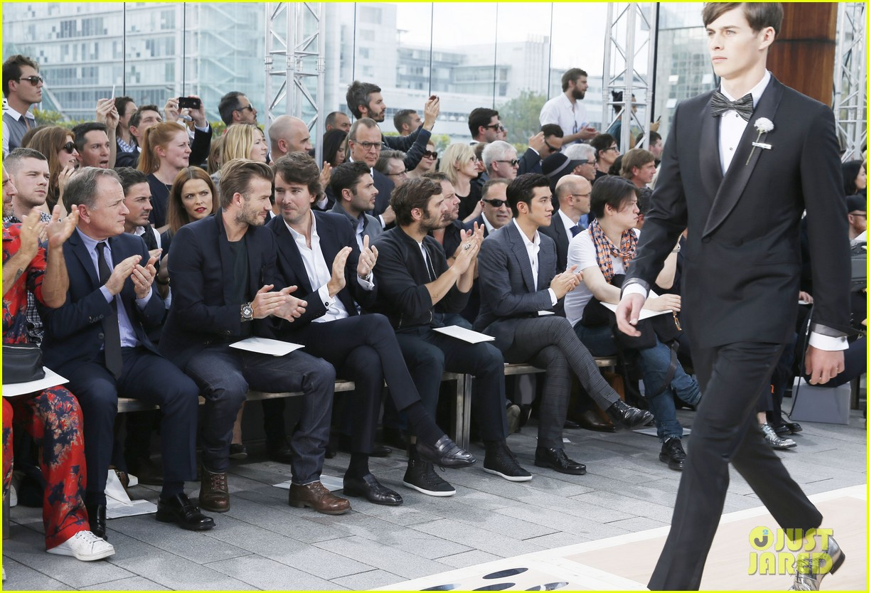 david beckham louis vuitton fashion show with marc jacobs 15
