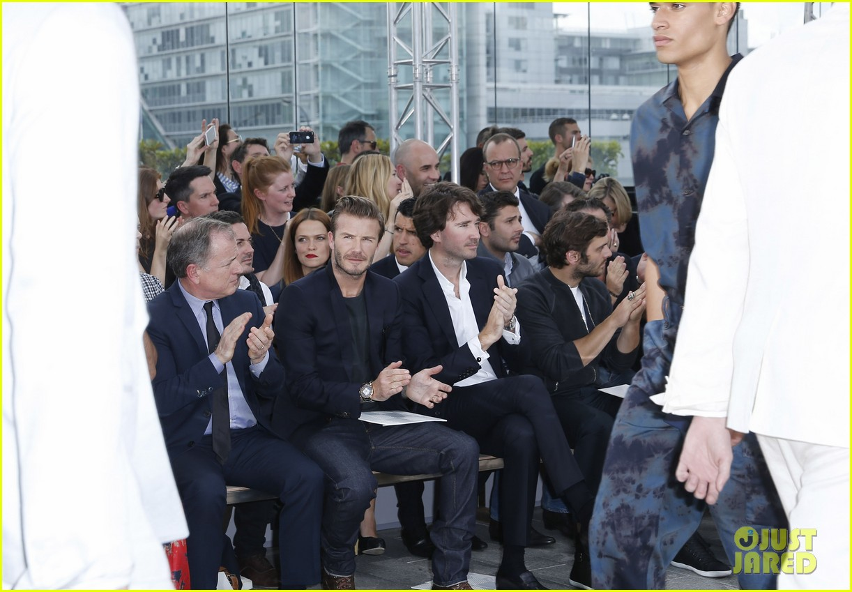 david beckham louis vuitton fashion show with marc jacobs 162899513