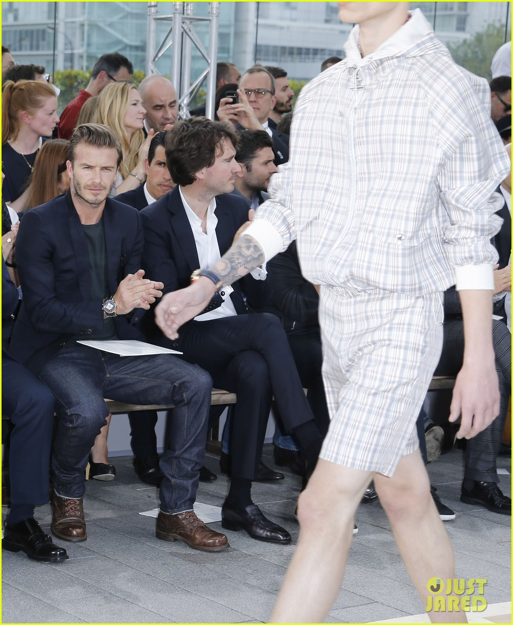 david beckham louis vuitton fashion show with marc jacobs 172899514