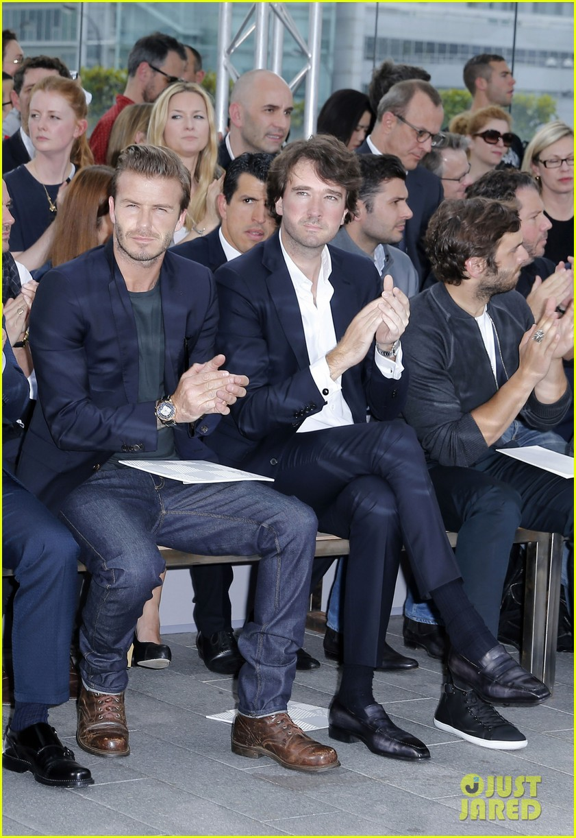 david beckham louis vuitton fashion show with marc jacobs 182899515