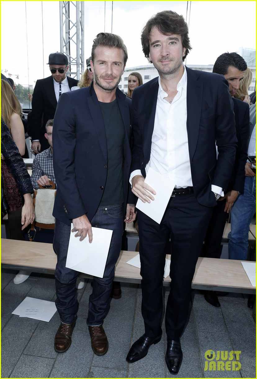 David Beckham Louis Vuitton Paris Show With Marc Jacobs
