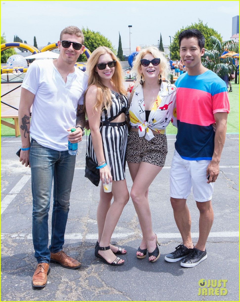 chloe bridges claudia lee just jared summer kick off party mcdonalds 312883586