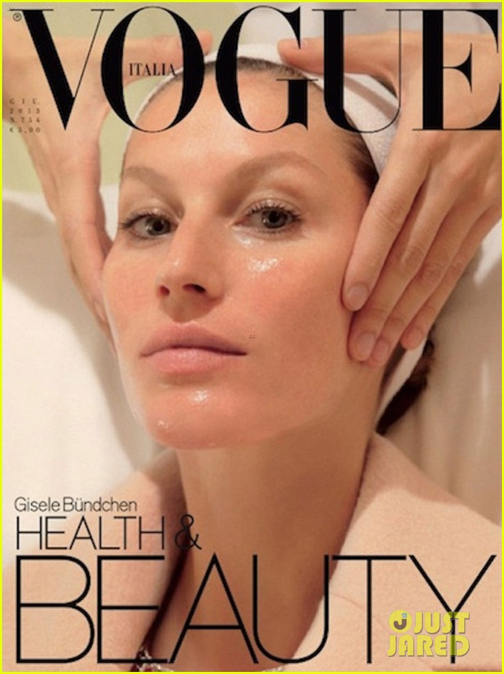 gisele bundchen pedicure facial for vogue italia covers 012883640