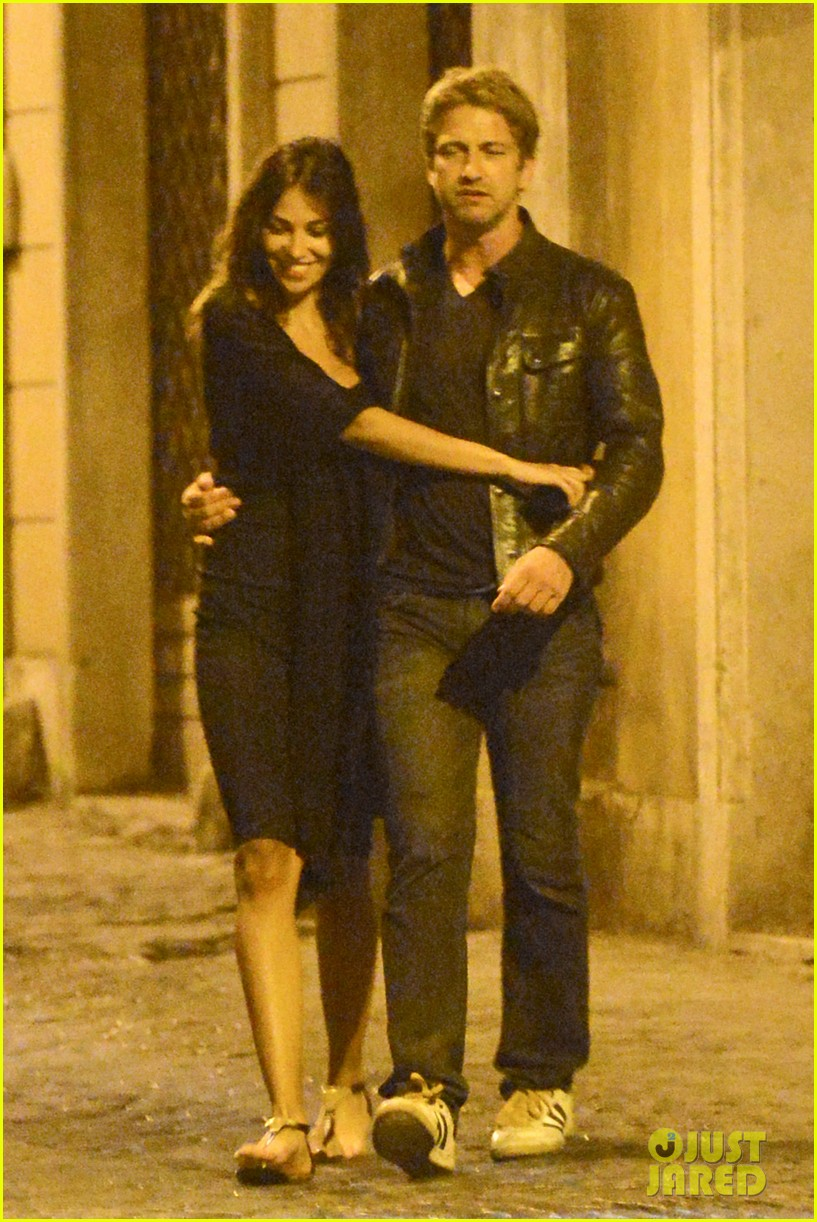 gerard butler rome night out with madalena ghenea 012898159
