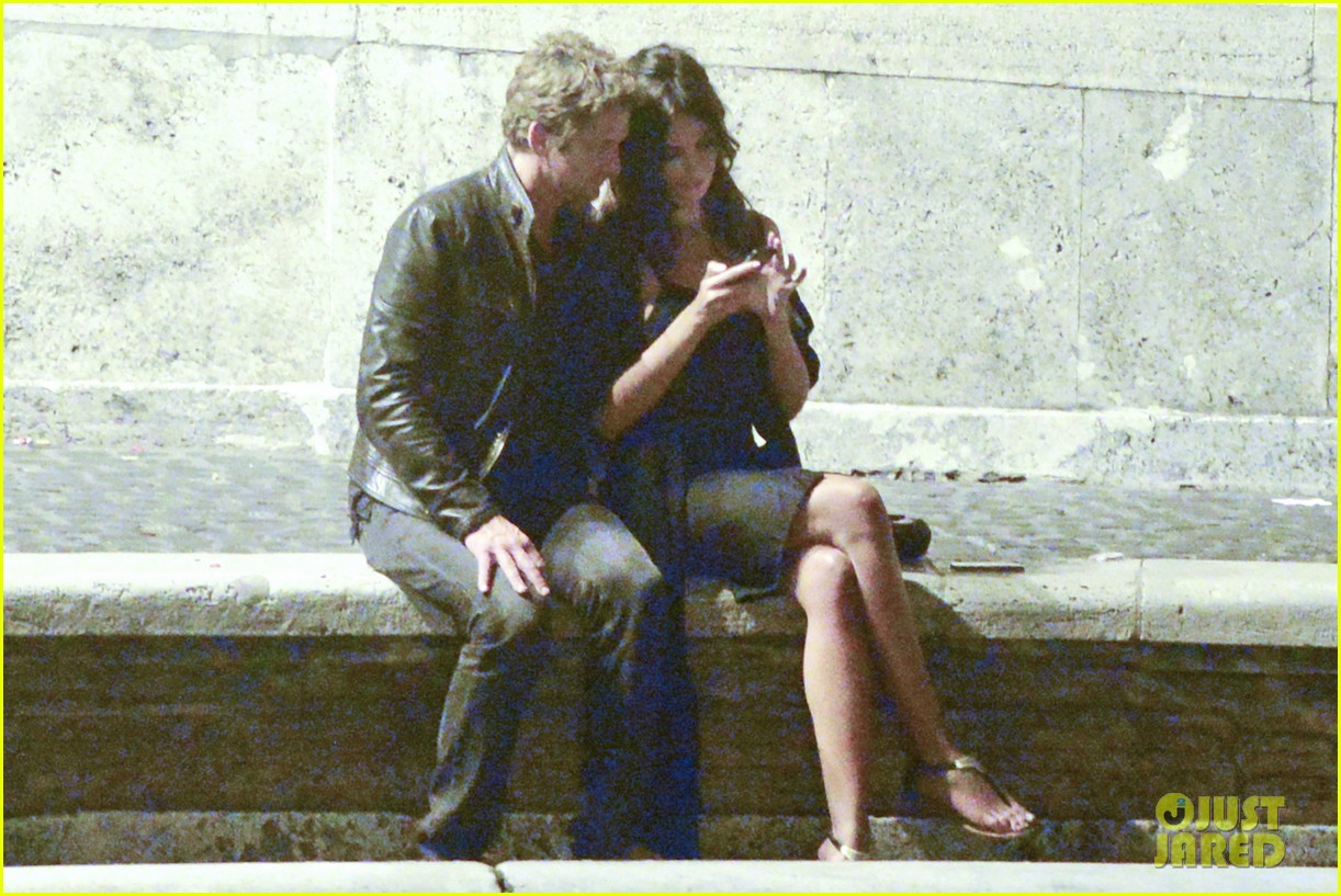 gerard butler rome night out with madalena ghenea 022898160