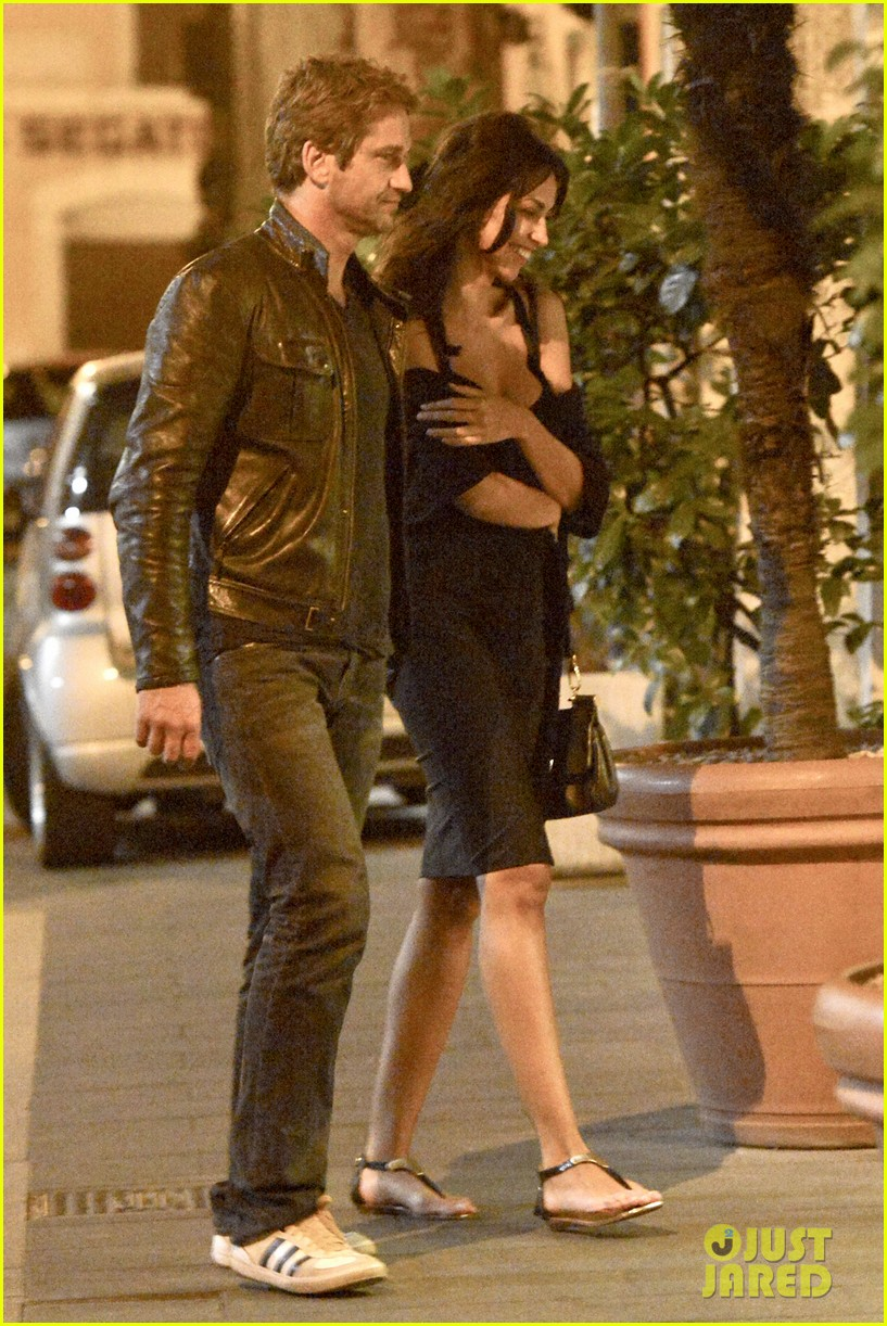 gerard butler rome night out with madalena ghenea 032898161