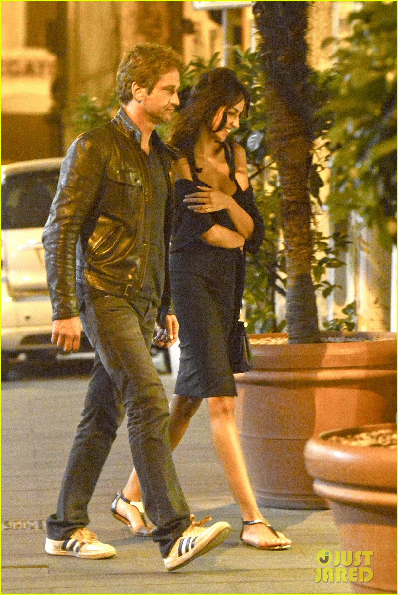 gerard butler rome night out with madalena ghenea 072898165