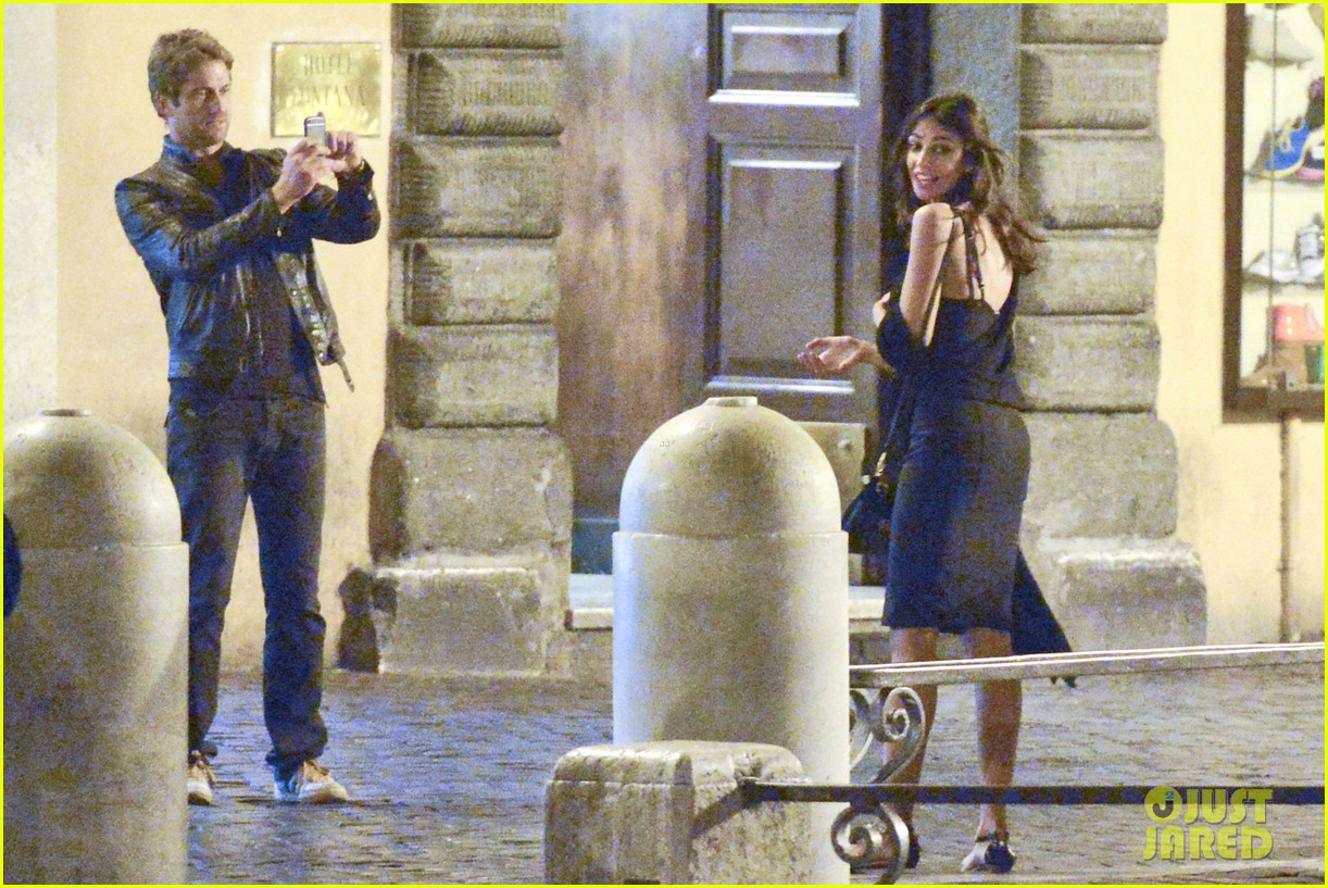gerard butler rome night out with madalena ghenea 132898171