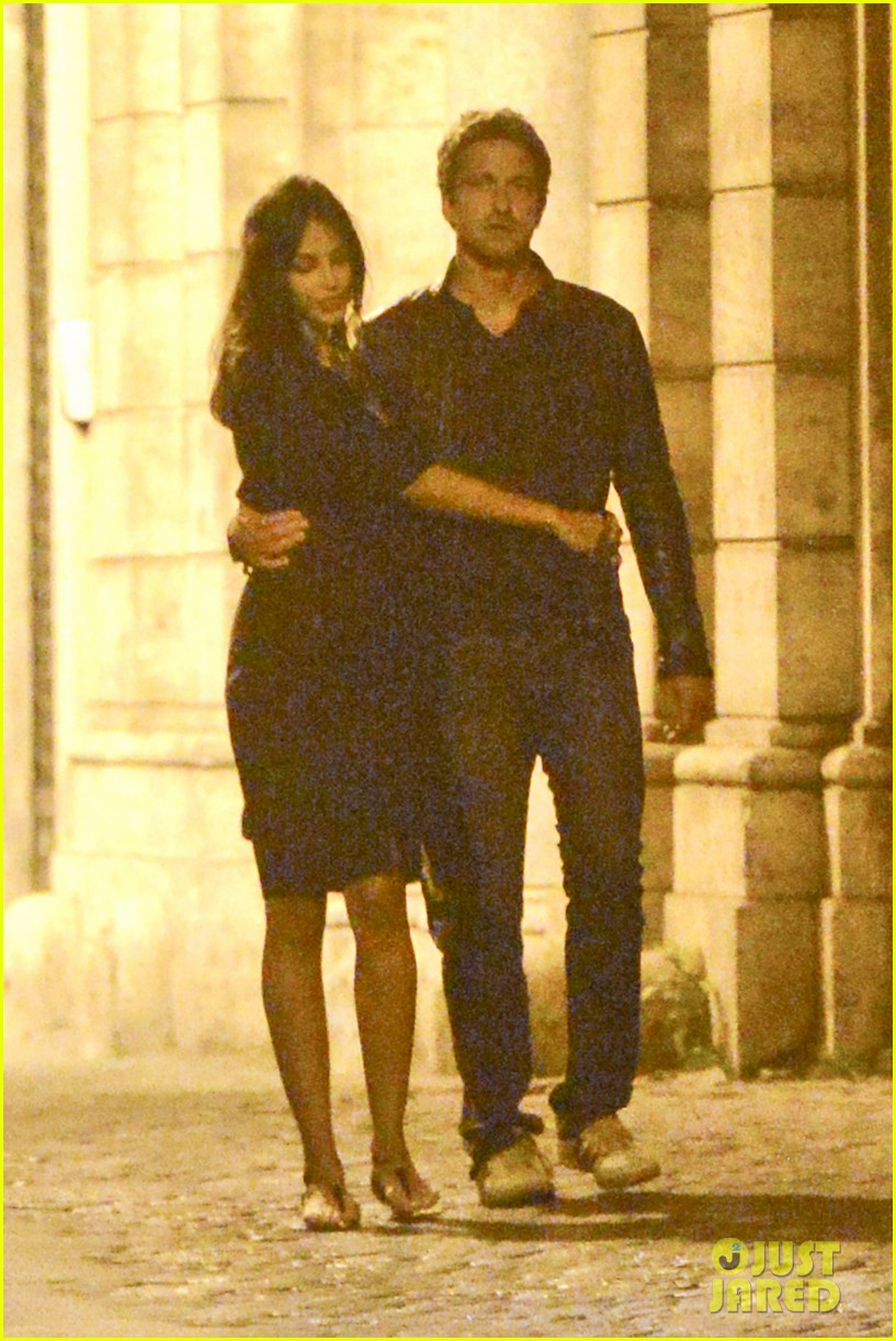 gerard butler rome night out with madalena ghenea 142898172