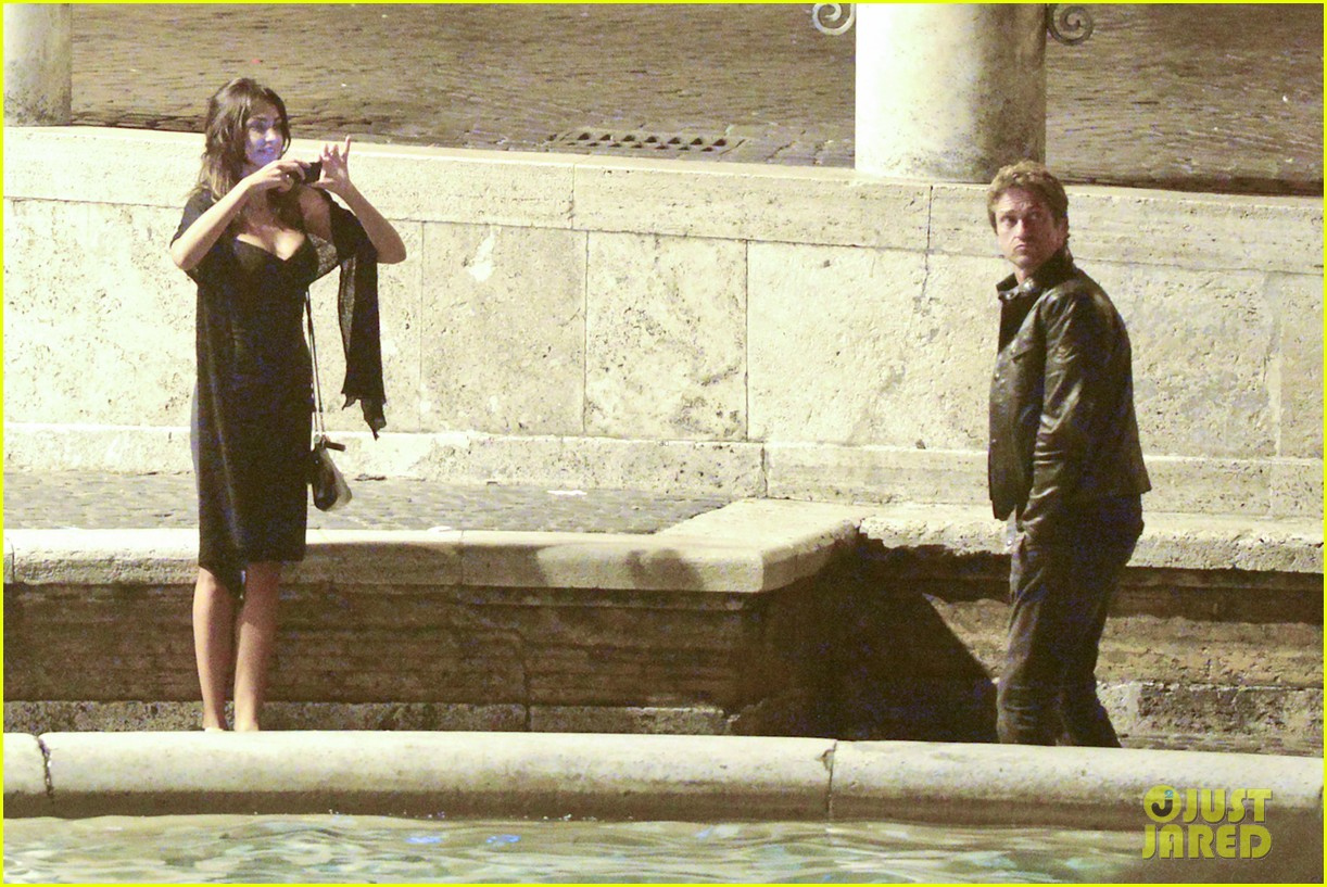 gerard butler rome night out with madalena ghenea 172898175
